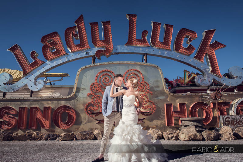 Las Vegas vintage wedding photos