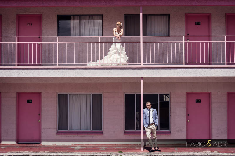 Downtown Las Vegas vintage wedding photos