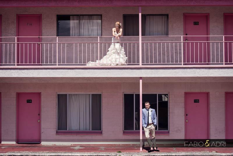 Downtown Las Vegas vintage wedding photos