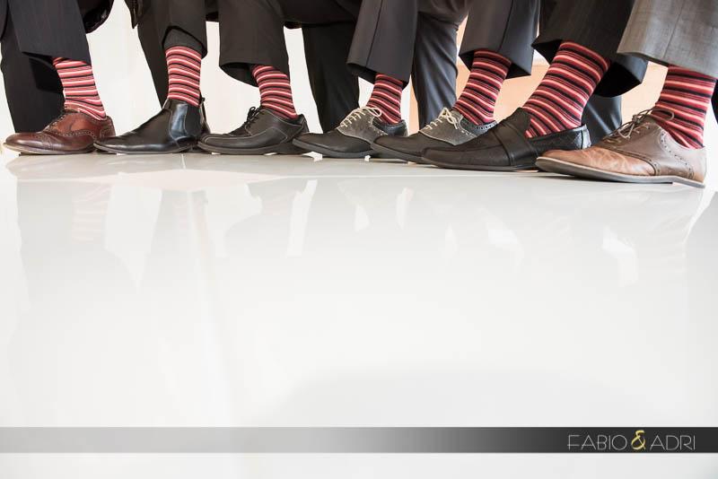 Matching socks Las Vegas Wedding