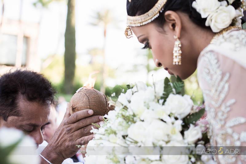Green Valley Ranch Las Vegas South Asian Wedding  Poruwa Ceremony