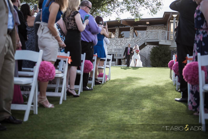 Bride Walking Down Aisle Las Vegas Country Club