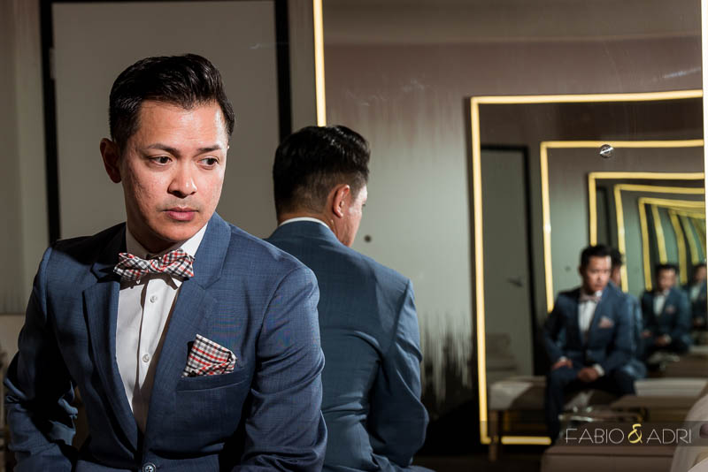 SLS Las Vegas Wedding Groom Portrait