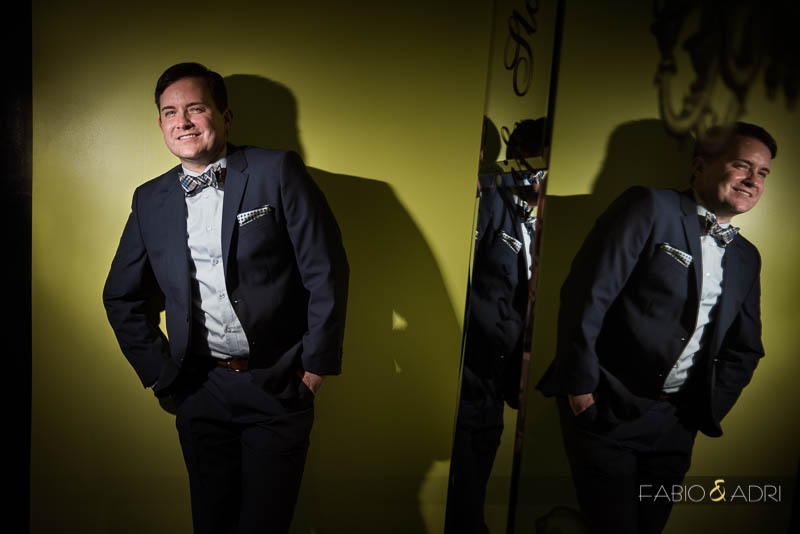SLS Las Vegas Wedding fashion groom portrait
