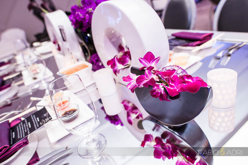 SLS Las Vegas Wedding Purple Decor