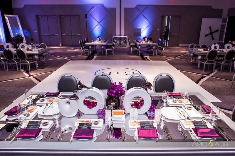 SLS Las Vegas Wedding Purple Decor by Destinations by Design