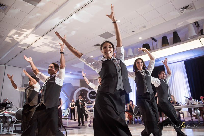 SLS Las Vegas Wedding Flash Mob