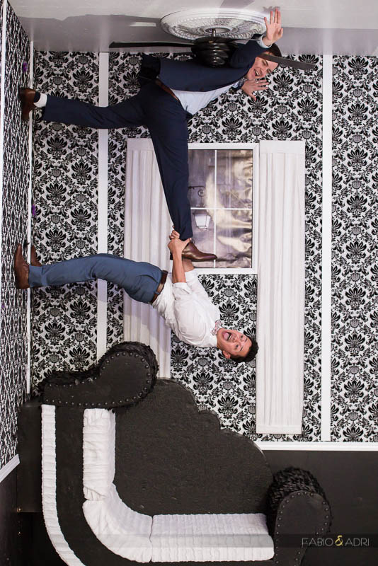 SLS Las Vegas Upside Down Photo Booth Idea