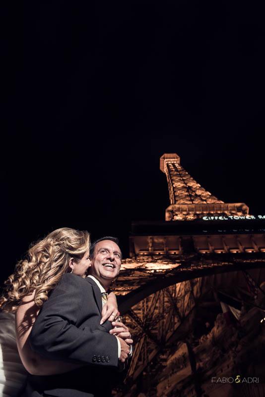 Las Vegas Strip Wedding Vow Renewal Paris Eiffel Tower