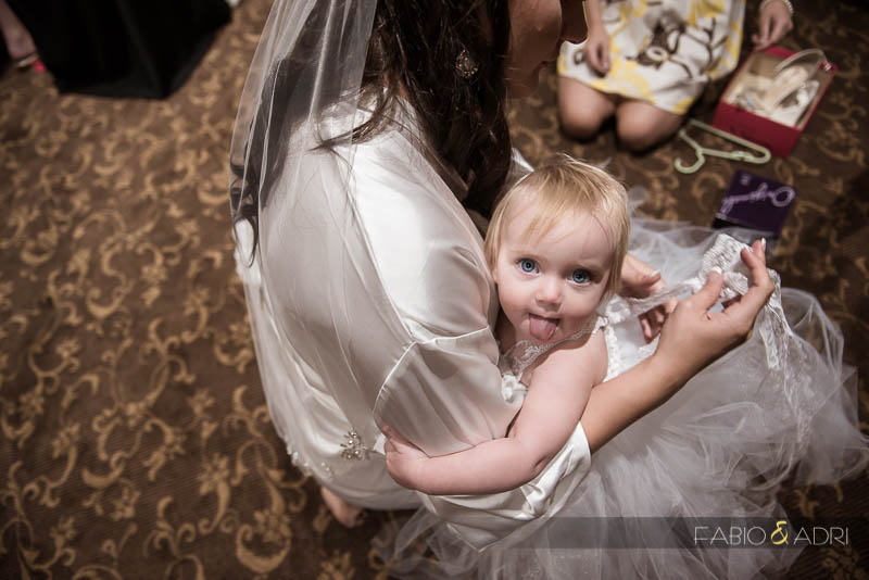 Las Vegas Country Club Wedding Photographer Baby Getting Ready
