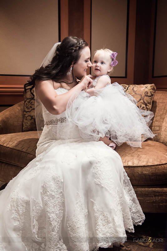 Las Vegas Country Club Wedding Photographer Mom and Daughter