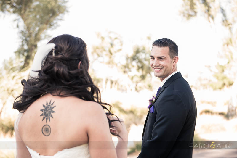 Las Vegas Country Club Wedding Photographer First Look