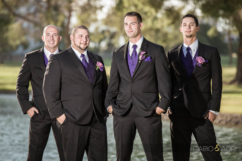 Las Vegas Country Club Wedding Photographer Groom and Groomsmen