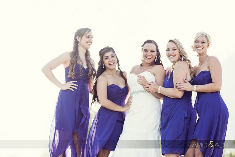 Las Vegas Country Club Wedding Photographer Bride and Bridesmaids