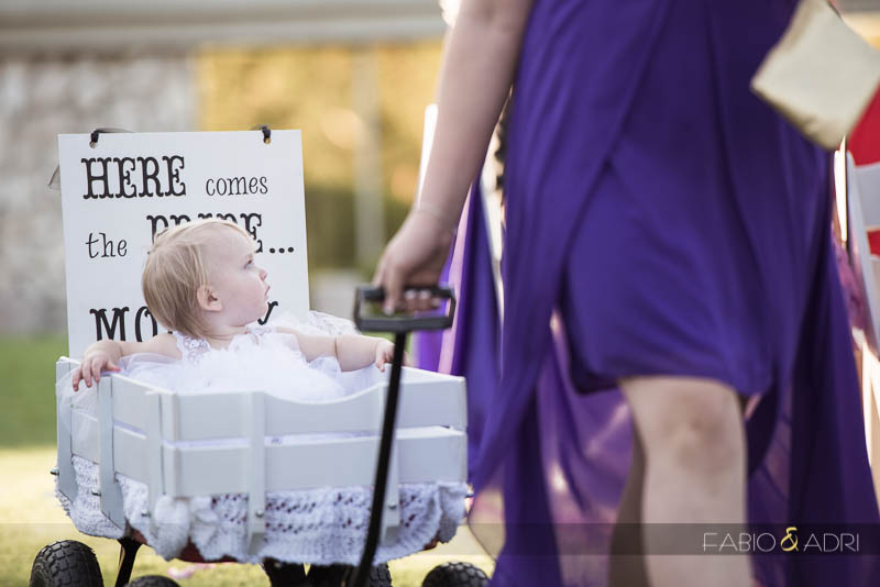 Las Vegas Country Club Wedding Photographer Baby in Wagon