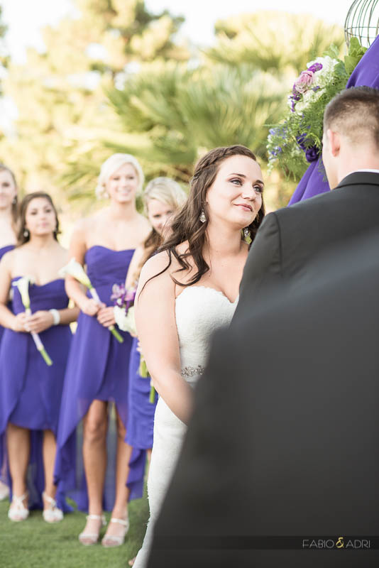 Las Vegas Country Club Wedding Photographer Ceremony