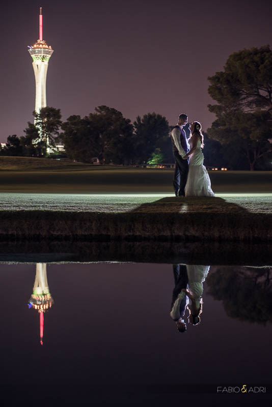 Las Vegas Country Club Wedding Photographer Stratosphere Tower