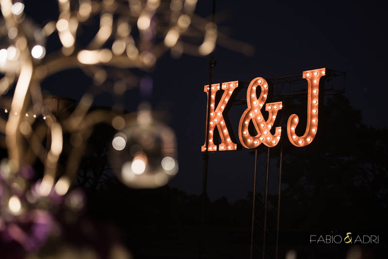 Las Vegas Country Club Wedding Photographer Marquee Lights