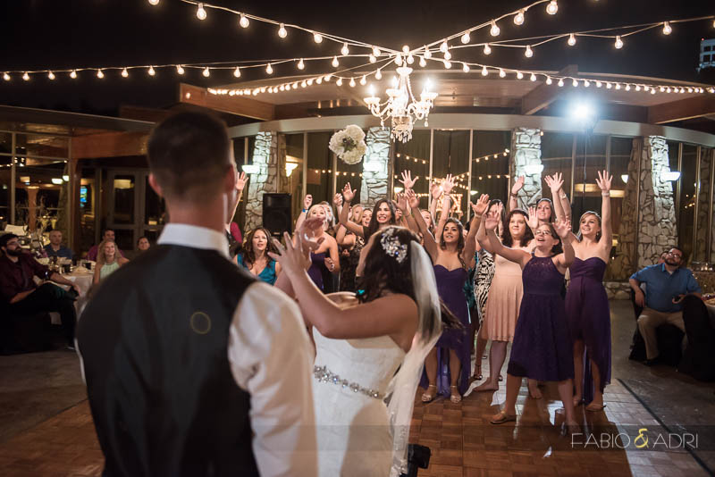 Las Vegas Country Club Wedding Photographer Bouquet Toss