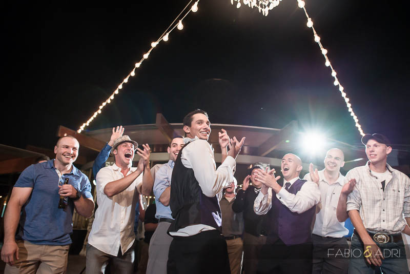 Las Vegas Country Club Wedding Photographer Garter Toss