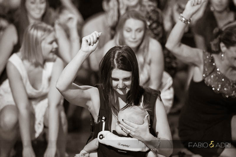Las Vegas Country Club Wedding Photographer Reception Baby Carrier