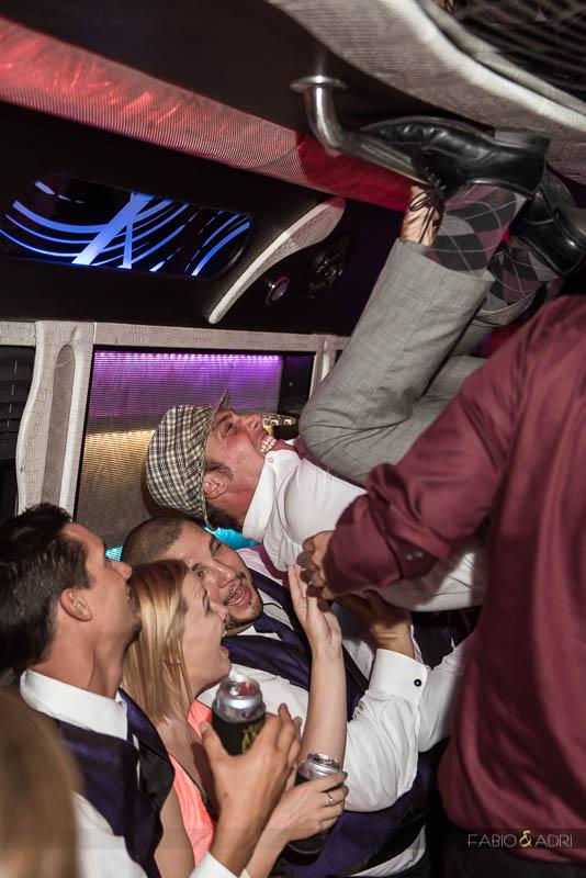 Las Vegas Country Club Wedding Photographer Party Bus
