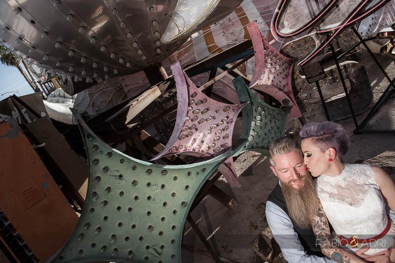 Neon Museum Wedding Las Vegas Photographer