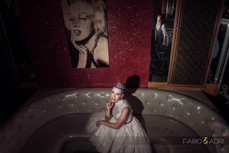 Beauty Bar Wedding Photos Downtown Las Vegas Photographer