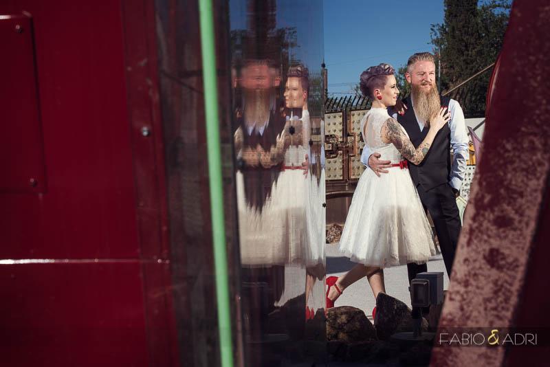 Rockabilly Colorful Wedding Photos Downtown Las Vegas Photographer