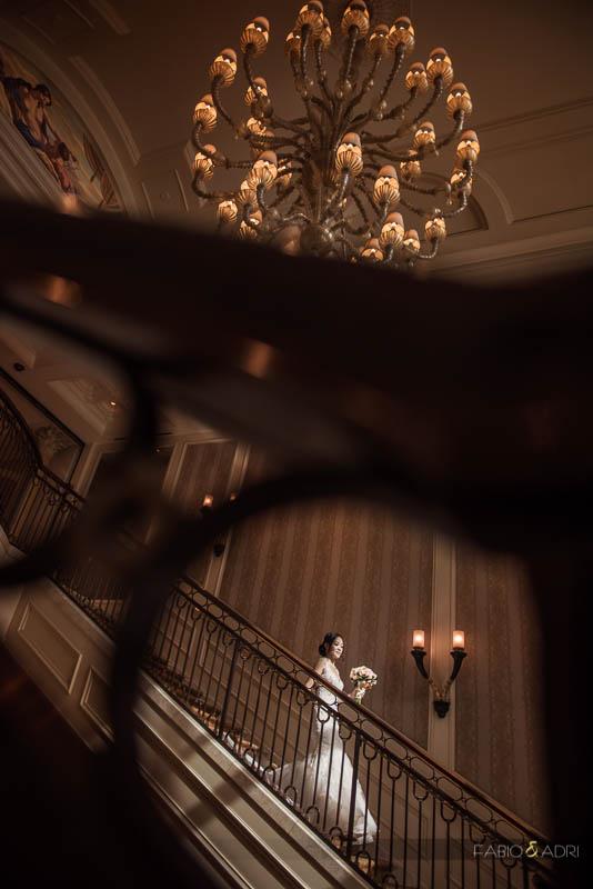 Bride Photo Caesars Palace Staircase Las Vegas