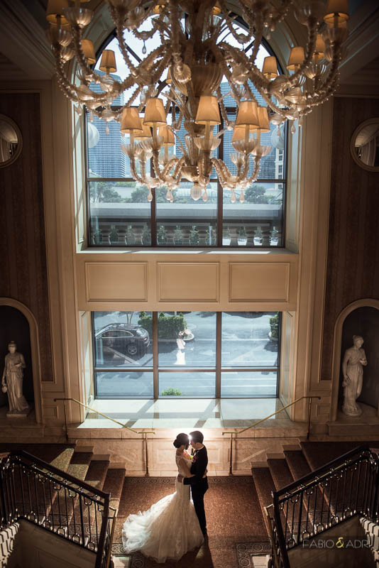 Wedding Photo Caesars Palace Las Vegas Staircase