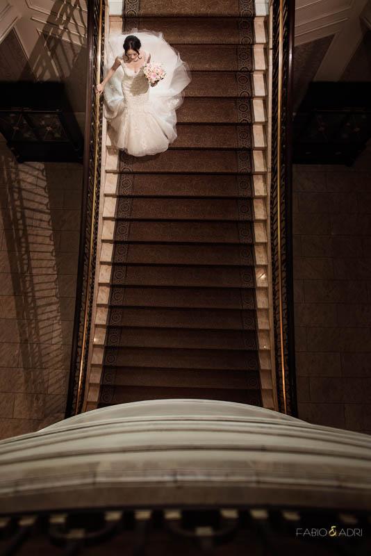 Bride Photo Caesars Palace Las Vegas Sataircase