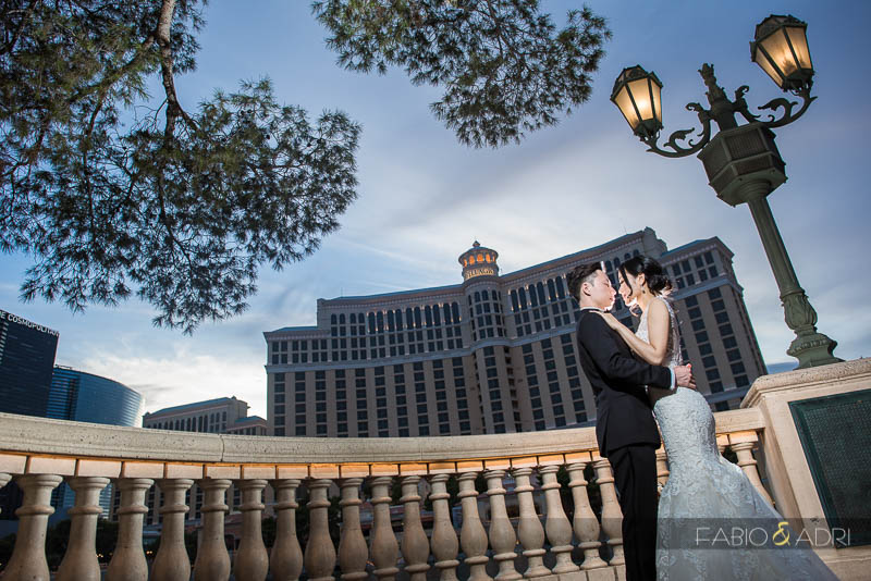 Bellagio Fountains Las Vegas  Wedding Photo