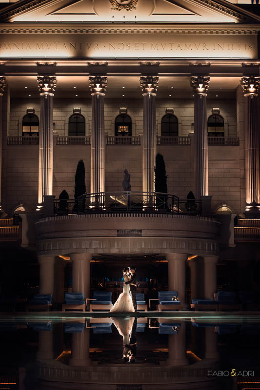 Caesars Palace Wedding Photo Las Vegas
