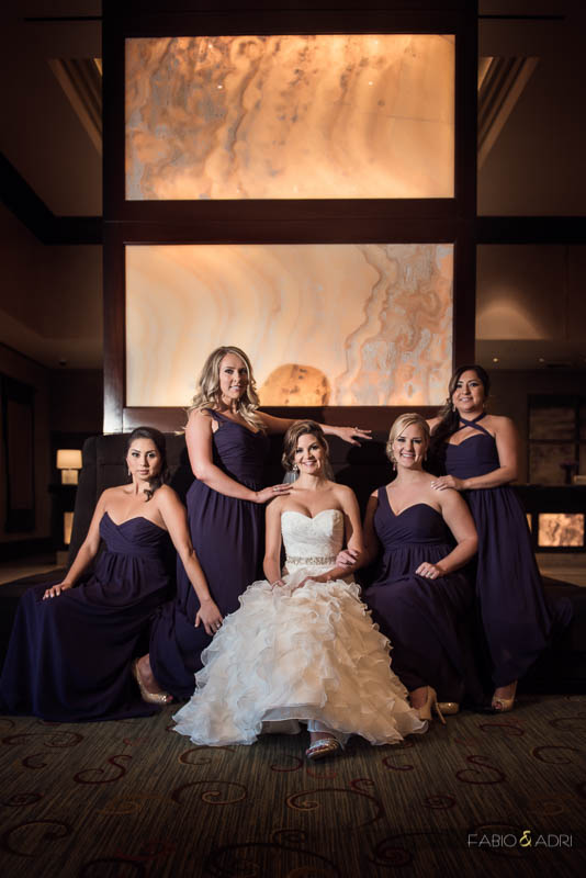 Bride and Bridesmaids at MGM Signature