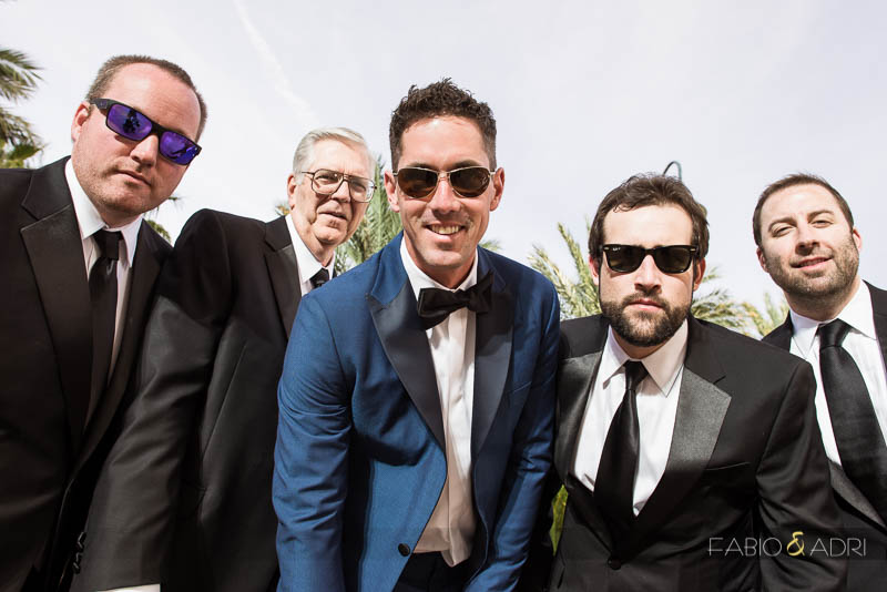 Groom and groomsmen photo Las Vegas Wedding