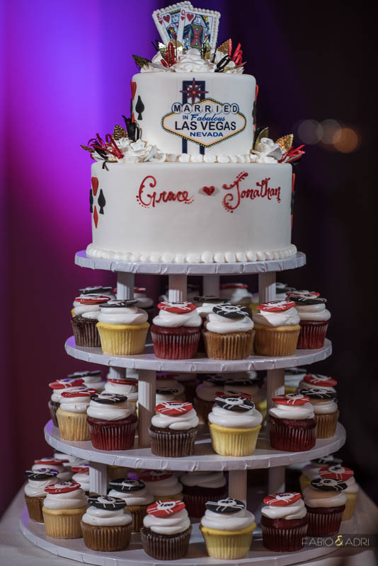 Las Vegas Wedding Cake and Cupcakes