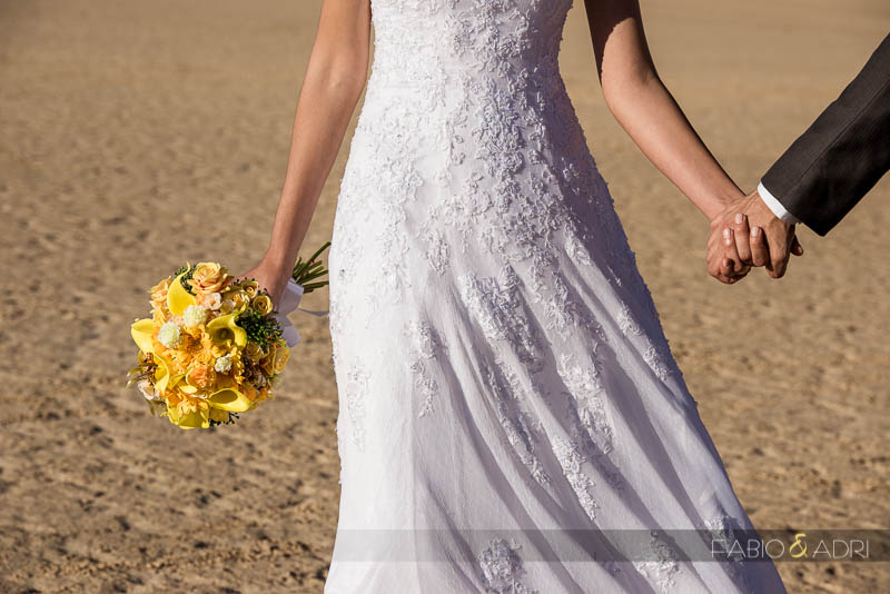 Desert Wedding Yellow Bouquet