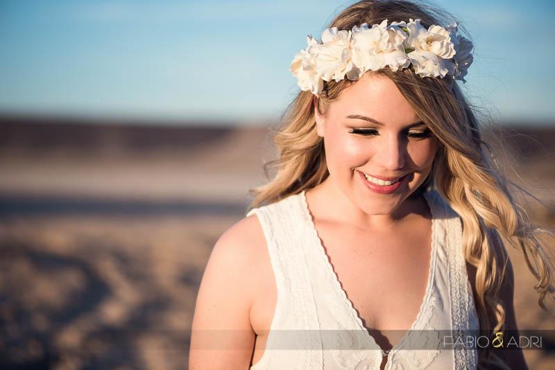 Desert Dry Lake Engagement Bride Flower Crown