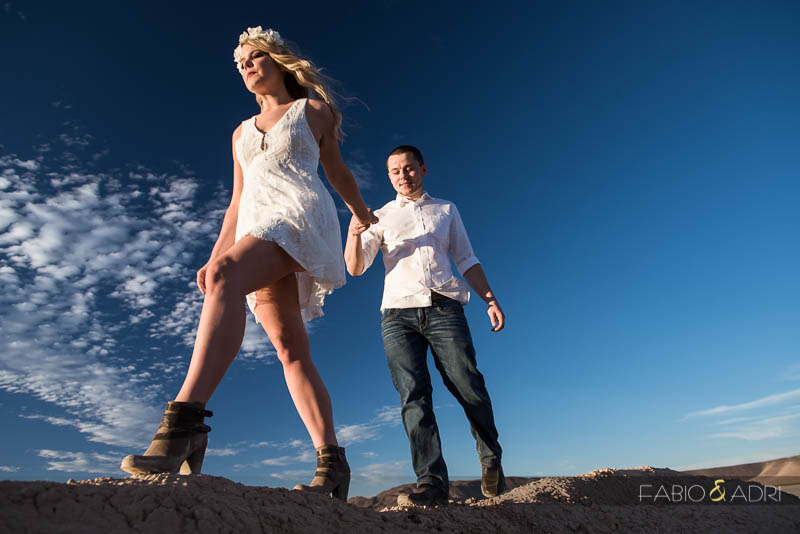 Desert Dry Lake Engagement Photographer