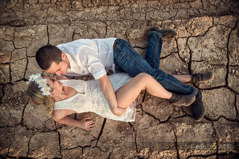 Dry Mud Sexy Engagement Session