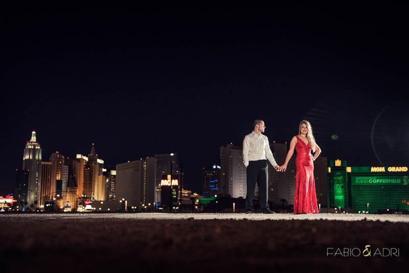 Las Vegas Strip Engagement Photographer