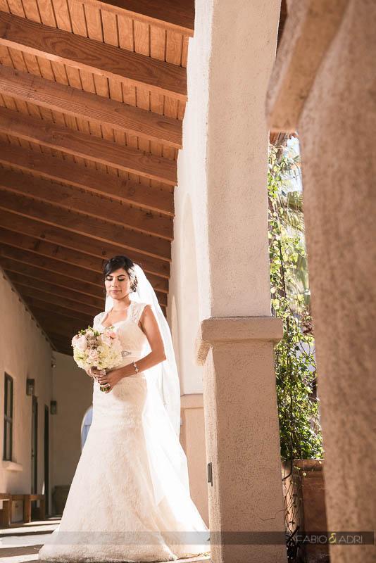 Bride at Saint Joseph Catholic Church Las Vegas