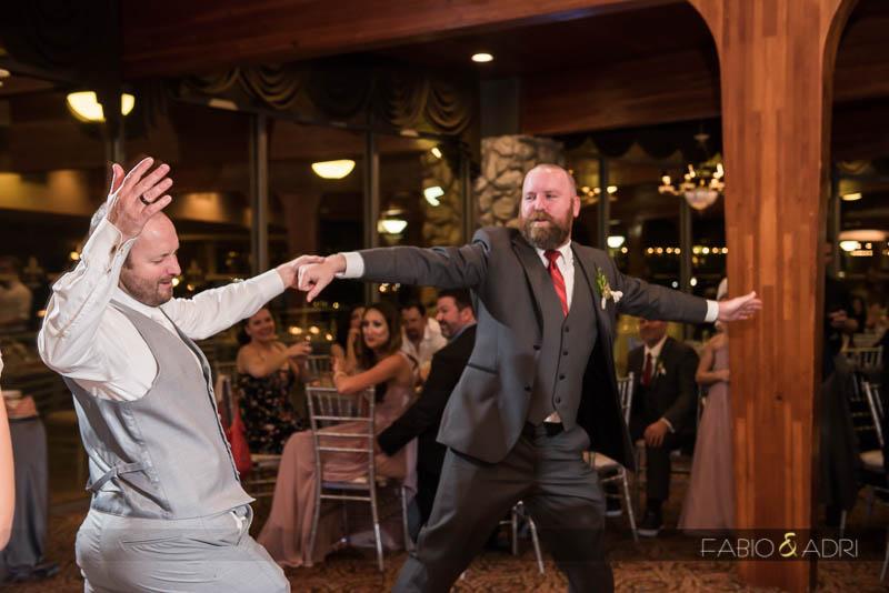 Groom and Best Man Dance Wedding Reception Las Vegas