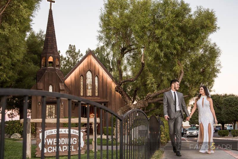 Little Church of the West Bride Groom Walking