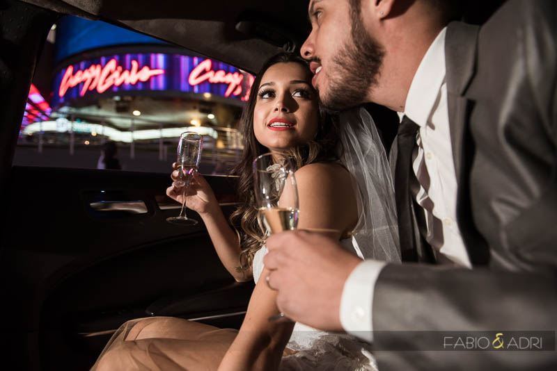 Las Vegas Limousine Ride Wedding Photos
