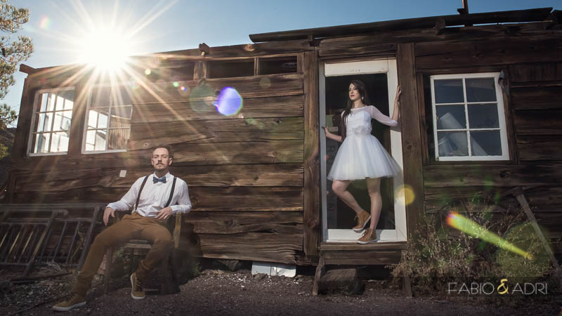 Nelosn Ghost Town Vintage Fun Bridal Session Photo