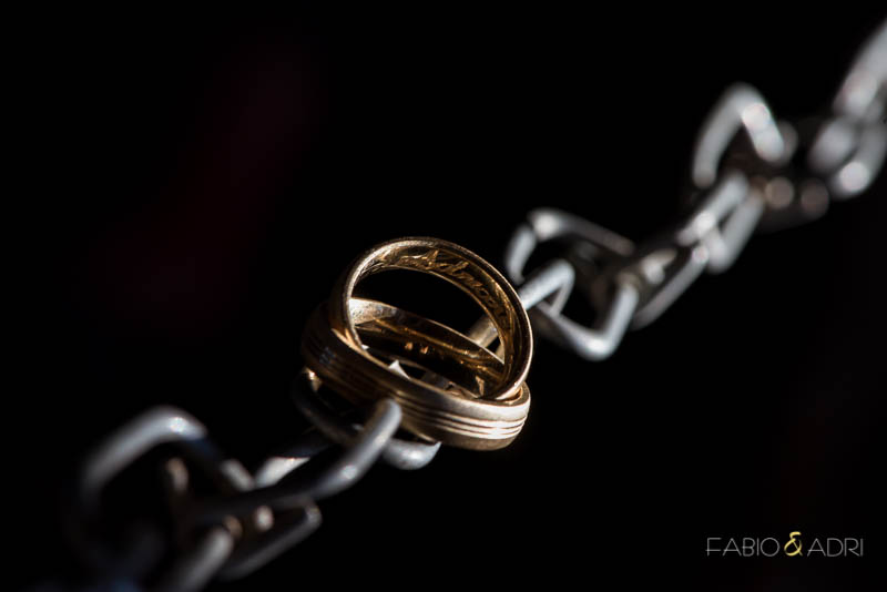 Gold Wedding Band Chain Link Photo