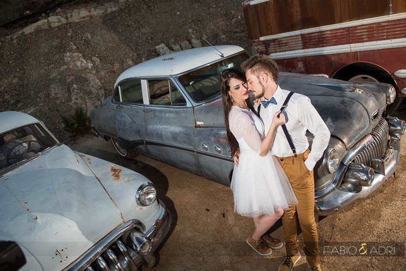 Antique Cars Romantic Weding Photo Nelson