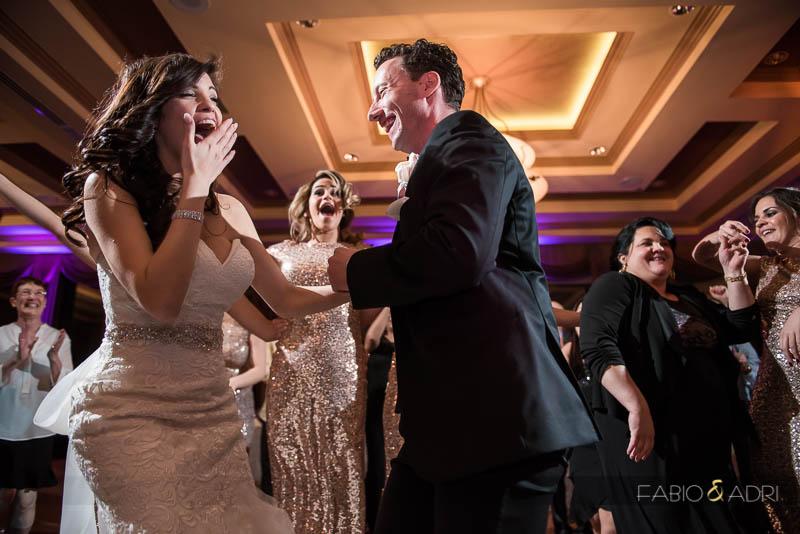 Dragon Ridge Las Vegas Wedding Reception Bride Groom Laughing